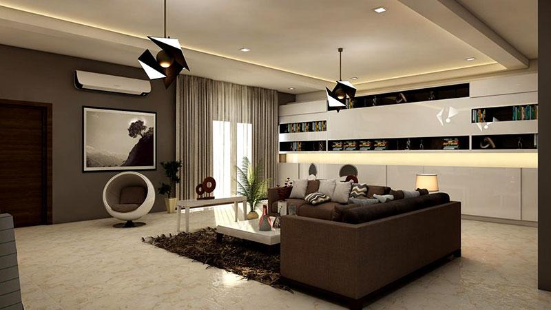 rectangular white-coffee table near brown leather sofa